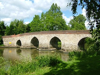 Medway Valley Walk - Joined by the Greensand Way- The Twyford Bridge, Yalding, Kent