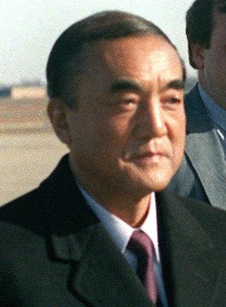 Yasuhiro Nakasone - Nakasone at Andrews Air Force Base in 1983