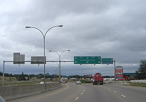Yellowhead Trail - Yellowhead Trail westbound between 50 Street and 66 Street