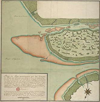 Hudson Bay expedition - A French military map showing the French approach to York Factory