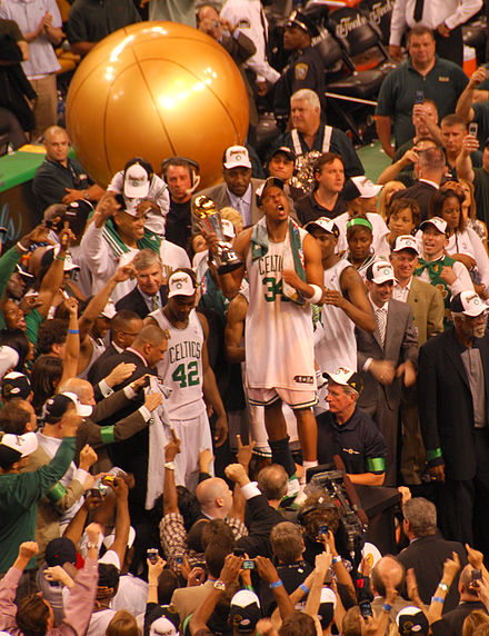 The Boston Celtics celebrate after winning the 2008 NBA championship Your 2008 NBA Finals MVP - The Truth.jpg