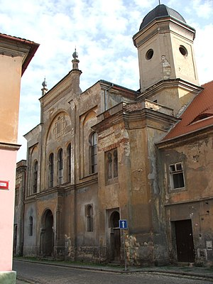 Gordon Levett - Bombed-out synagogue in Žatec, Czechoslovakia, site of Operation Balak