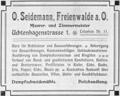 Zeitungsanzeige Freienwalde Otto Seidemann.png