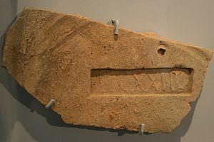 Legio XXI Rapax - Brick stamp LEG XXIR, found in Rheinzabern.