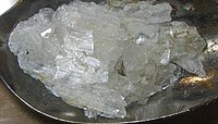 Zinc acetate crystals