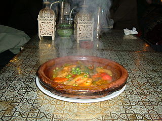 North African dish named after the vessel in which it is cooked
