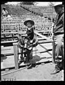 """Foghorn"" Clancy, Jr., one of the youngest members of the big rodeo and passing in the west, will perform for visiting Shriners LCCN2016892333.jpg"