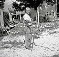 """""""Mlatič"""" za mlatit bob. Izdelal Mlekuž Matija, Kal 31 pri Bovcu 1952.jpg"""