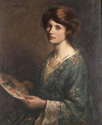 "William Kay Blacklock - Image: ""The Blue Kimono"" by William Kay Blacklock"