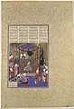 """""""Zal Expounds the Mysteries of the Magi"""", Folio 87v from the Shahnama (Book of Kings) of Shah Tahmasp MET DP107130.jpg"""