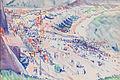 'Beach at Étretat', watercolor painting by Charles Demuth, c. 1913.jpg
