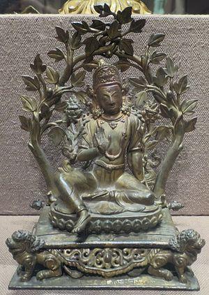 Vajrapani - Bronze image Bodhisattva Vajrapani from Nepal, 1731
