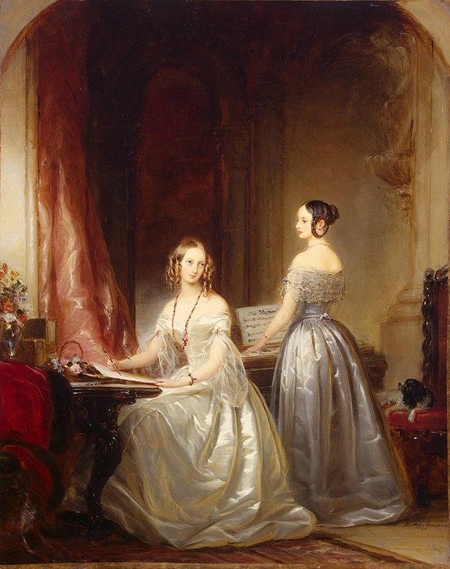 'Grand-Duchesses Olga and Alexandra, Daughters of Nicholas I' by Christina Robertson, 1840.JPG