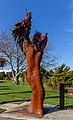 'Is Man an Ape or Angel?' sculpture in Addington, Christchurch, New Zealand 01.jpg