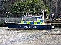 'Sir Robert Peel II' Metropolitan Police Boat near Bankside Pier, River Thames 03.jpg