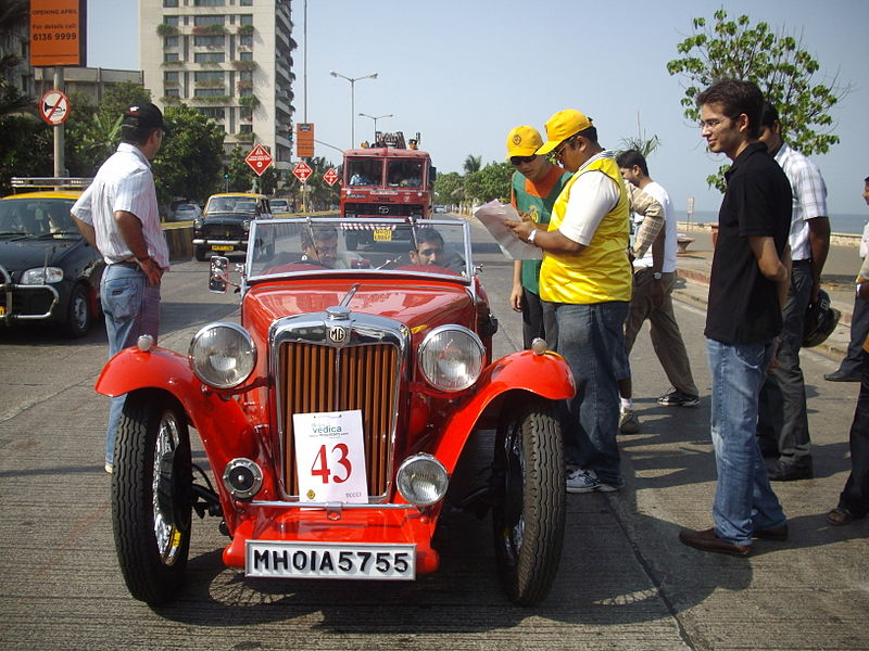 File:'Vintage Mg car' at 'Mumbai Vintage car rally-2010'.jpg