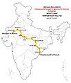(Visakhapatnam - Bhagat Ki Kothi) Express Route map.jpg