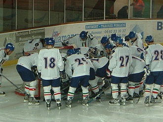Italy men's national ice hockey team - The Blue Team during 2003 Euro Ice Hockey Challenge
