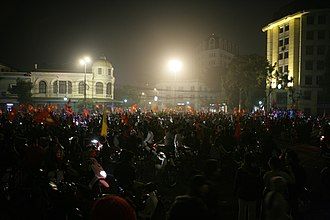 2008 AFF Championship - Vietnamese supporters celebrate after the Final.