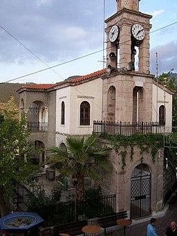 """Η Εκκλησία του χωριού """"Κοιμήσεως της Θεοτόκου"""""""