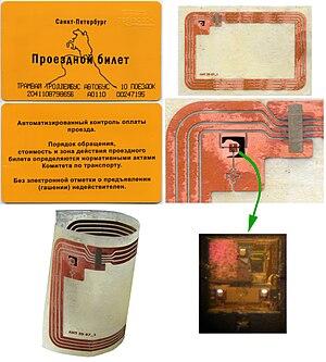 Transit pass - Russia, Saint-Petersburg: paper based 10 trips electronic (RFID) transit pass