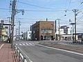 北海道道675号立待岬函館停車場線と国道279号(重複区間)との交差点部(アクロス十字街付近、起点側より撮影).jpg