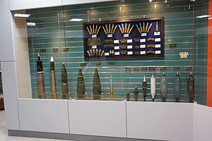 Shell (projectile) - Some shells displayed in Taipei