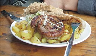 Bratwurst - Bratwurst as traditional German fast food in Münster