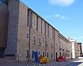 015 Antic hospital de Santa Caterina i escultura A B C Q (Girona) 01.JPG