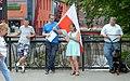 02018 0931 Polnische Nationalisten demonstrieren während des Besuchs von Bürgermeister Biedroń in der Umgebung der FHöV in Bielsko-Biala.jpg