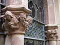 043 Castell de Santa Florentina (Canet de Mar), pati, capitells a l'entrada de la cripta.JPG