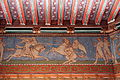 0 Pierrefonds - Fresque et plafond de la salle des chevaliers.JPG