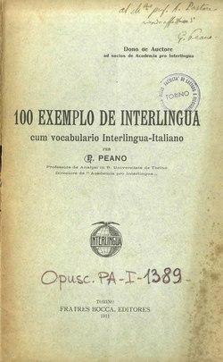 100 exemplo de Interlingua cum vocabulario Interlingua-Italiano.djvu