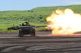 1c87a50ee4f3 Shooting of 120 mm Smoothbore gun .