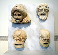 1280 - Archaeological Museum, Athens - Theatre masks - Photo by Giovanni Dall'Orto, Nov 11 2009.jpg