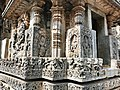 12th-century Shaivism Hindu temple Hoysaleswara arts Halebidu Karnataka India, one of the four entrances to main shrine.jpg