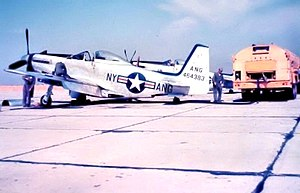52d Troop Carrier Wing - 139th Fighter Squadron – North American F-51H Mustang 44-64383, Schenectady County Airport, New York