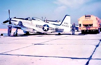 139th Airlift Squadron - 139th Fighter Squadron - North American F-51H-5-NA Mustang 44-64383, Schenectady County Airport, New York