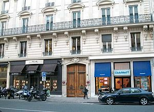 Exposition Internationale du Surréalisme - Built in 1860, the house at 140, Rue du Faubourg Saint-Honoré in Paris, in which exhibition was held. Photo taken in 2011