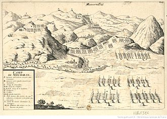 Angelets - Battle plan near Maureillas in 1674