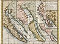 1772 Vaugondy - Diderot Map of California in five states, California as Island. - Geographicus - CalifornieSuivant-vaugondy-1768.jpg