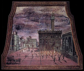 Saint John's Eve - 17th century A.D. Saint John's Eve festivities at the Piazza della Signoria.