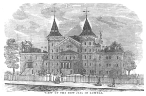 Timeline of Lowell, Massachusetts - Image: 1858 jail Lowell Directory Massachusetts