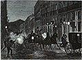 1872-07-24, La Ilustración Española y Americana, Atentado contra los reyes de España en la noche del 18 a (cropped) Los foragidos hacen fuego contra SS. MM. la reina y el rey.jpg