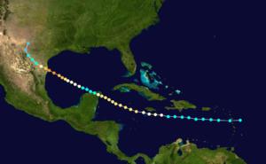 1880 Atlantic hurricane season - Image: 1880 Atlantic hurricane 2 track