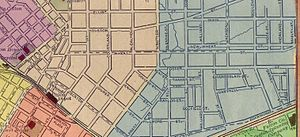 Edgewood Avenue - 1883 map showing Foster Street, before Edgewood Avenue existed