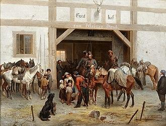 Bogdan Willewalde - Image: 1885 Villevalde Kosaken in Bautzen anagoria