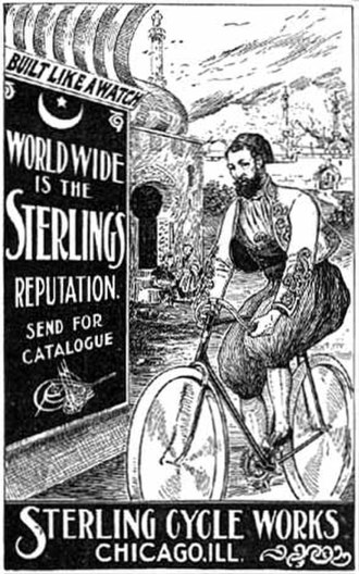 Sterling Bicycle Co. - Image: 1897 persian sterling bike ad