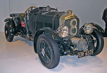 Vue 3/4 avant d'une Bentley Blower de la collection de Ralph Lauren.