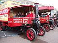 1929 Foden Type HH steam lorry (WX 2682) & Horsham Traction steam bus 19 (M 6359), 2009 HCVS London to Brighton run.jpg